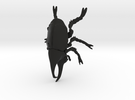 Rhino beetle small with pinhole in Black Strong & Flexible