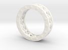 Mechanical Ring in White Strong & Flexible Polished