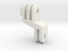 GoPro Offset Mount (Center your lens) in White Strong & Flexible