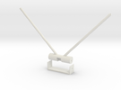 Futaba Diversity Antenna mount in White Strong & Flexible
