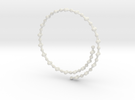 Flexible Frustrated Chain Bracelet in White Strong & Flexible
