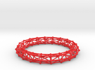 Bangle Bracelet Lattice in Red Strong & Flexible Polished