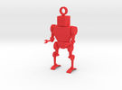 Toy Robot Key Chain in Red Strong & Flexible Polished