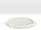 Cirrus X3 Rocketeer Center Grill in White Strong & Flexible Polished