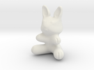 Plastic Bunny (2in./5.08cm) in White Strong & Flexible