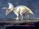 Silver Triceratops by David Krentz 1/200 scale in Raw Silver