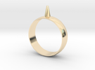 223-Designs Bullet Button Ring Size 15.5 in 14K Gold
