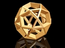Icosidodecahedron Pendant in White Strong & Flexible