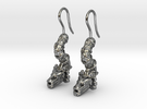 Aretes Quetzalcoatl in Polished Silver