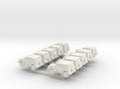 N Scale  Munga X10 in White Strong & Flexible