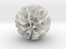 Warped Gyroid Shell 16 cm Diameter in White Strong & Flexible