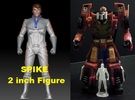 Spike homage Space Man 2inch Transformers Mini-fig in Frosted Ultra Detail