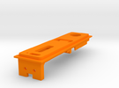 Interior Mount - 2mm - With USB in Orange Strong & Flexible Polished