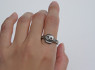 Simply Skull Ring - Size 8 in Stainless Steel