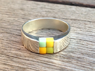 4-bit ring (US9/⌀18.9mm) in Polished Silver