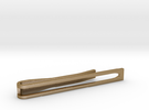 Minimalist Tie Bar - Wedge in Polished Gold Steel
