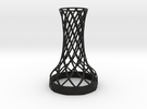 Tower Vase for jar size:70 (4 leads) in Black Strong & Flexible
