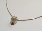 Fencing Mask Pendant in Raw Silver