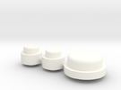 Button Group - Plastics in White Strong & Flexible Polished