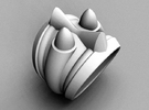 59 Caddy Cat Ring - Size 8 1/2 (18.59 mm) in Polished Silver
