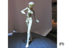 1/20 scale ALPHA EGO BJD kit, Female V01 in Frosted Ultra Detail