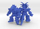 MiniCreatures: S.H Stegosaur Vs Stalwart Styracosa in Blue Strong & Flexible Polished