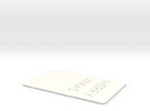 Xmas card in White Strong & Flexible Polished
