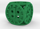 Dice7-clock in Green Strong & Flexible Polished