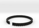 Arch1 - Small plastic bracelet. in Black Strong & Flexible