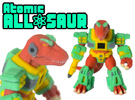 Atomic Allosaur (Colored Sandstone) in Full Color Sandstone