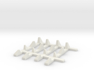 1-87 Scale Dragon Teeth Road Barrier Expansion in White Strong & Flexible