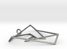 Impossible triangle pendant with a twist in Polished Silver