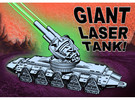 GIANT LASER TANK!!! (1 foot long!) in White Strong & Flexible
