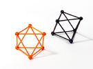 'Sprued' Octahedron #color in Orange Strong & Flexible Polished