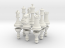 StauntonChessSet OneSide Joined in White Strong & Flexible