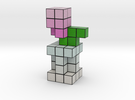 TULIP VOXEL FLOWER DECORATION in Full Color Sandstone