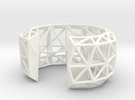 TRUSS CUFF PLASTIC  - sz S / M in White Strong & Flexible Polished