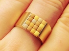 16-bit ring (US6/⌀16.5mm) in 18K Gold Plated