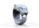 Panther ring 300% in Red Strong & Flexible Polished