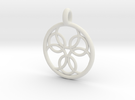 Pasithee pendant in White Strong & Flexible
