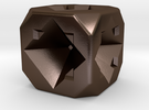 Dice80 in Polished Bronze Steel