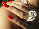 Ribbon Double Ring 6/7  in White Strong & Flexible
