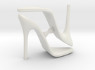 Women High Heel Base Two Shoes in White Strong & Flexible