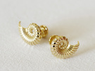 Nautilus Shell Cufflinks in 18K Gold Plated