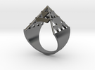 Inverted Sierpinski Size10 in Polished Silver