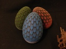 6cm Blue Dragon Egg (solid) in Full Color Sandstone