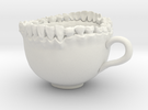 Large Teeth Tea Mug in White Strong & Flexible
