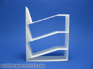 Slant 1:12 scale Bookshelf in White Strong & Flexible Polished