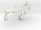 1/6th scale Pulse Rifle in White Strong & Flexible