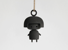 Doll Pendant in Black Strong & Flexible